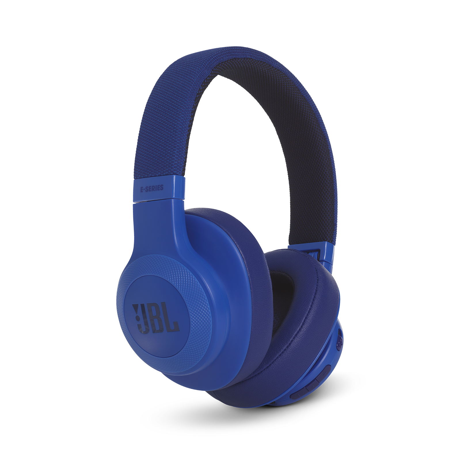 JBL E55BT - Blue - Wireless over-ear headphones - Detailshot 2