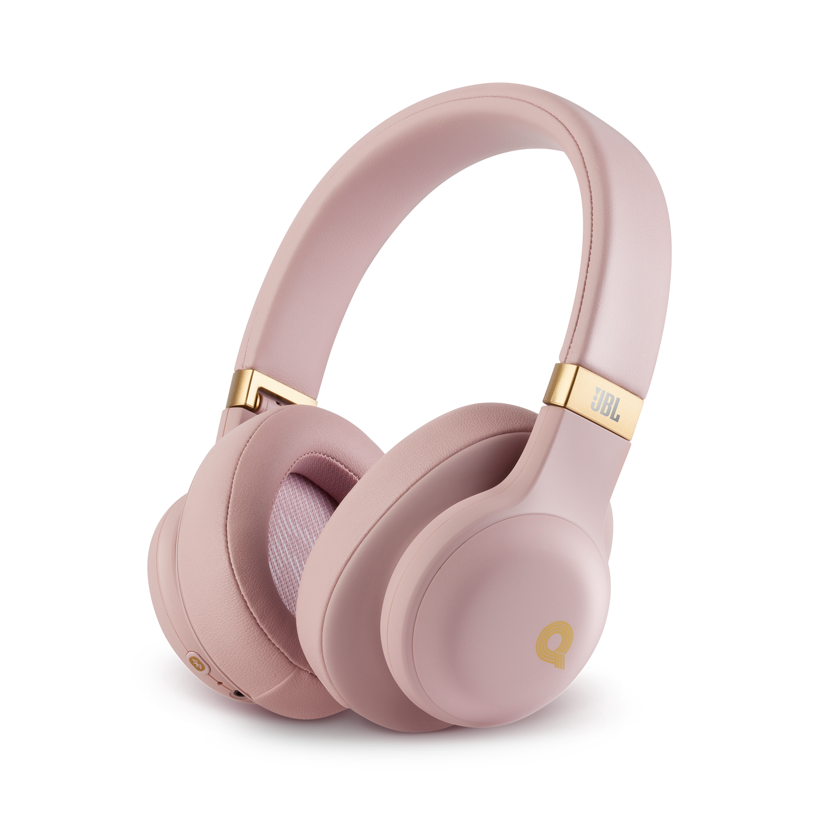 JBL E55BT Quincy Edition - Dusty Rose - Wireless over-ear headphones with Quincy's signature sound. - Hero