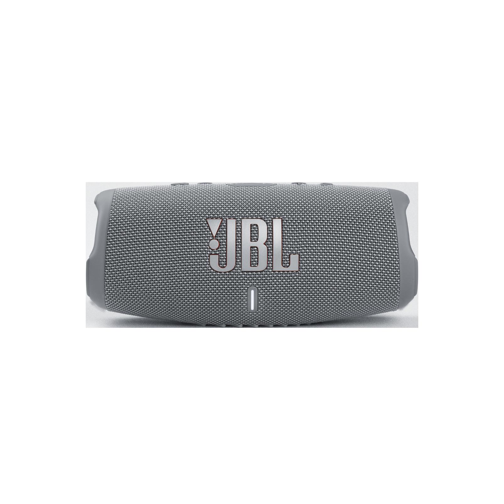 JBL Charge 5 - Grey - Portable Waterproof Speaker with Powerbank - Front