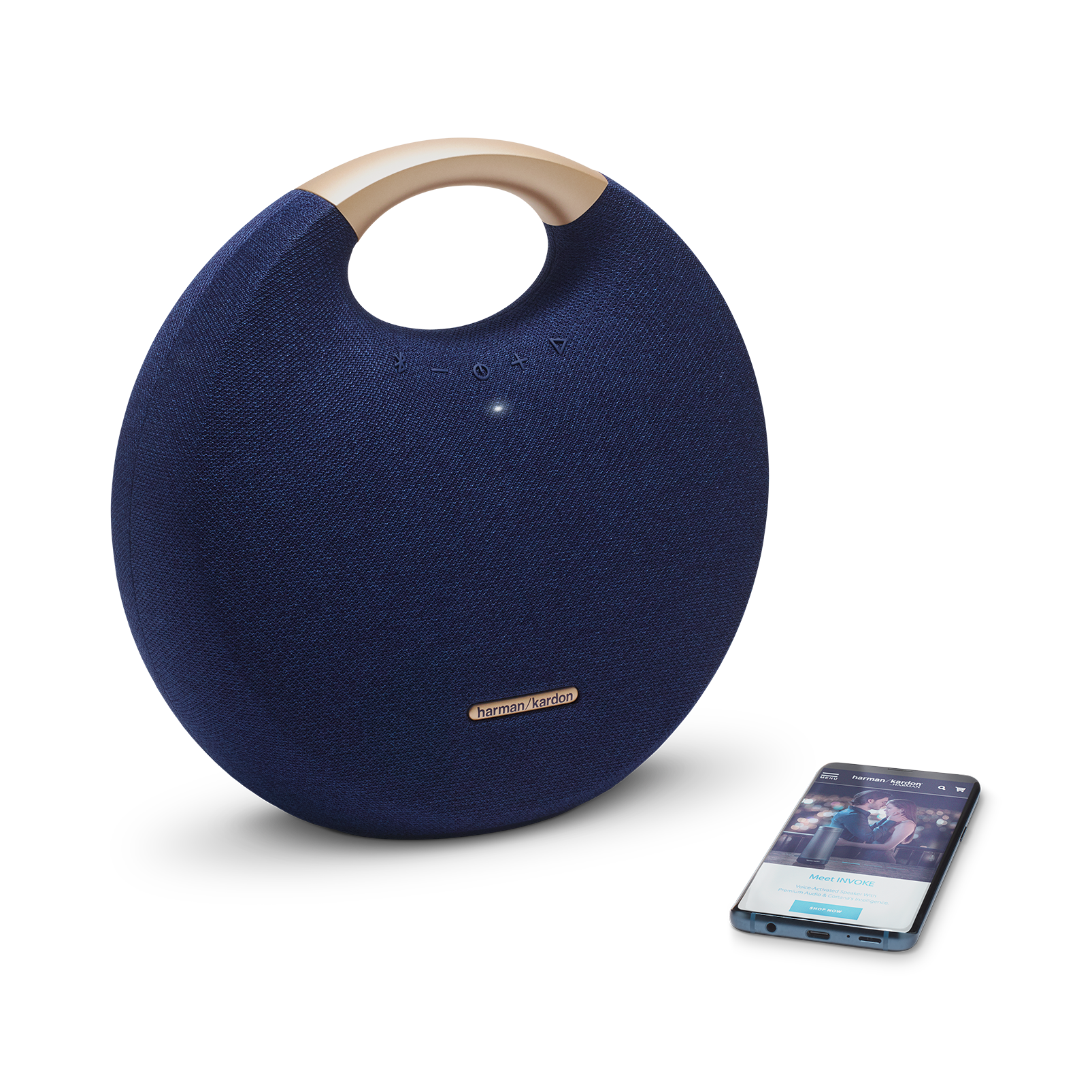 Onyx Studio 5 - Blue - Portable Bluetooth Speaker - Detailshot 1