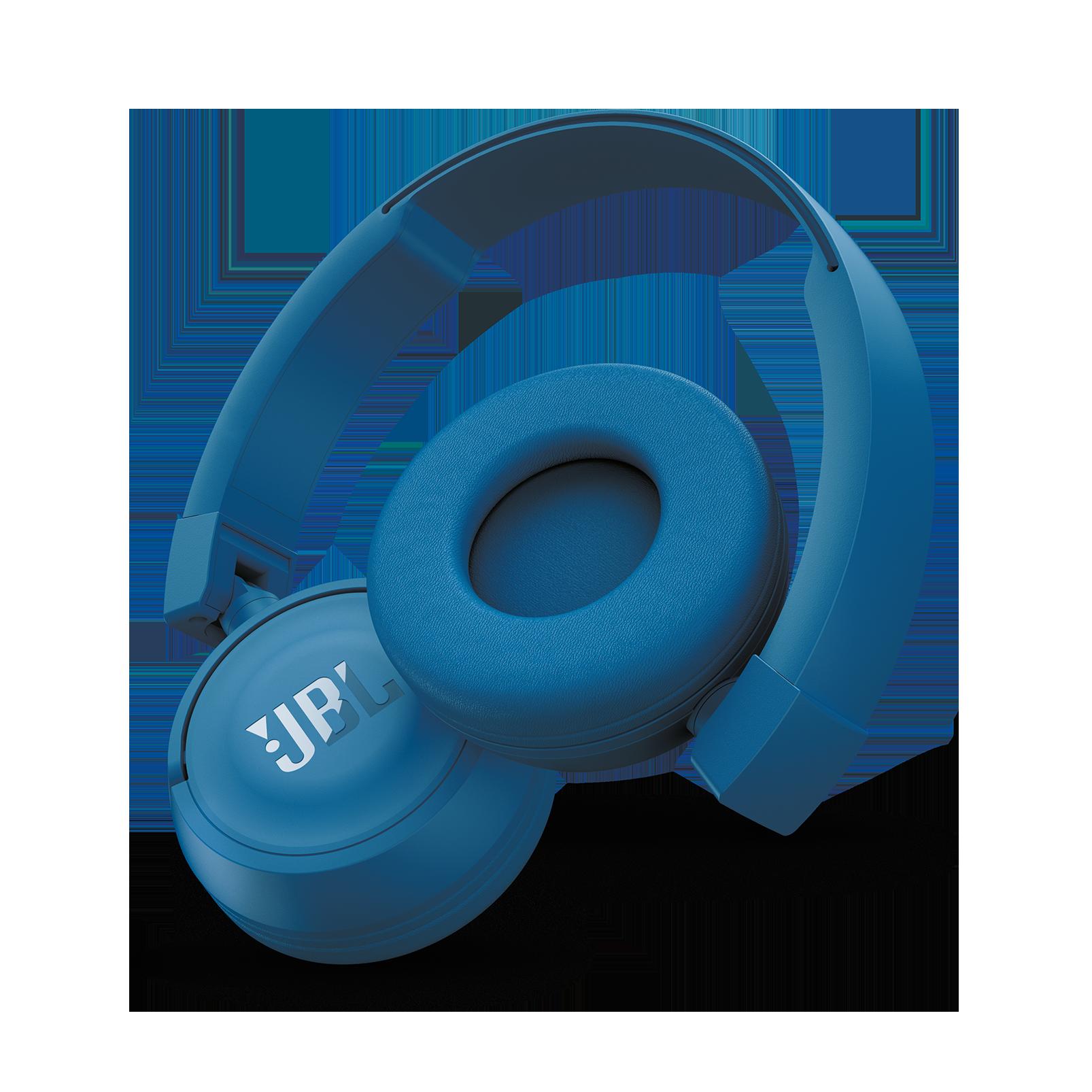 JBL T450BT - Blue - Wireless on-ear headphones - Detailshot 1