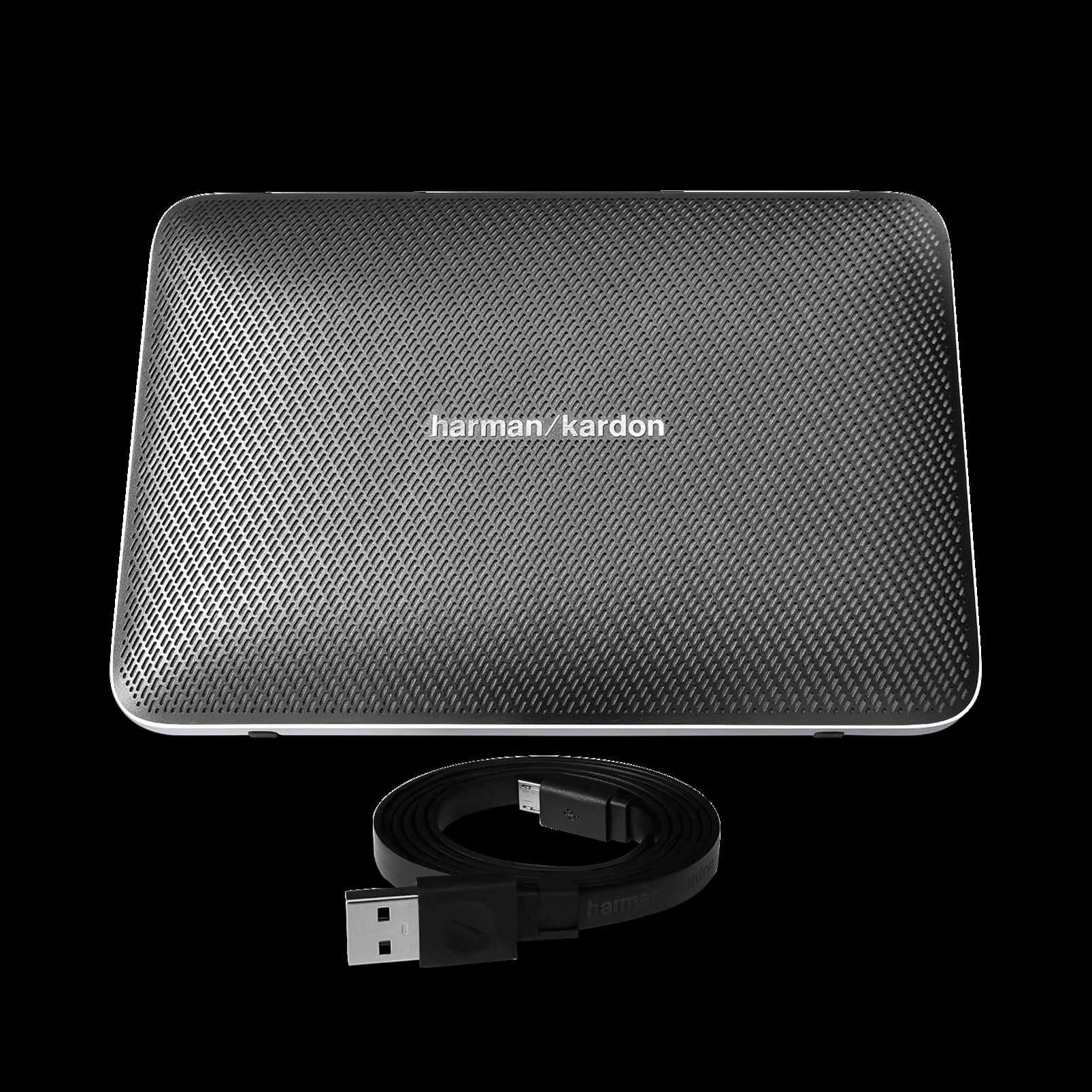 Esquire 2 - Grey - Premium portable Bluetooth speaker with quad microphone conferencing system - Detailshot 2