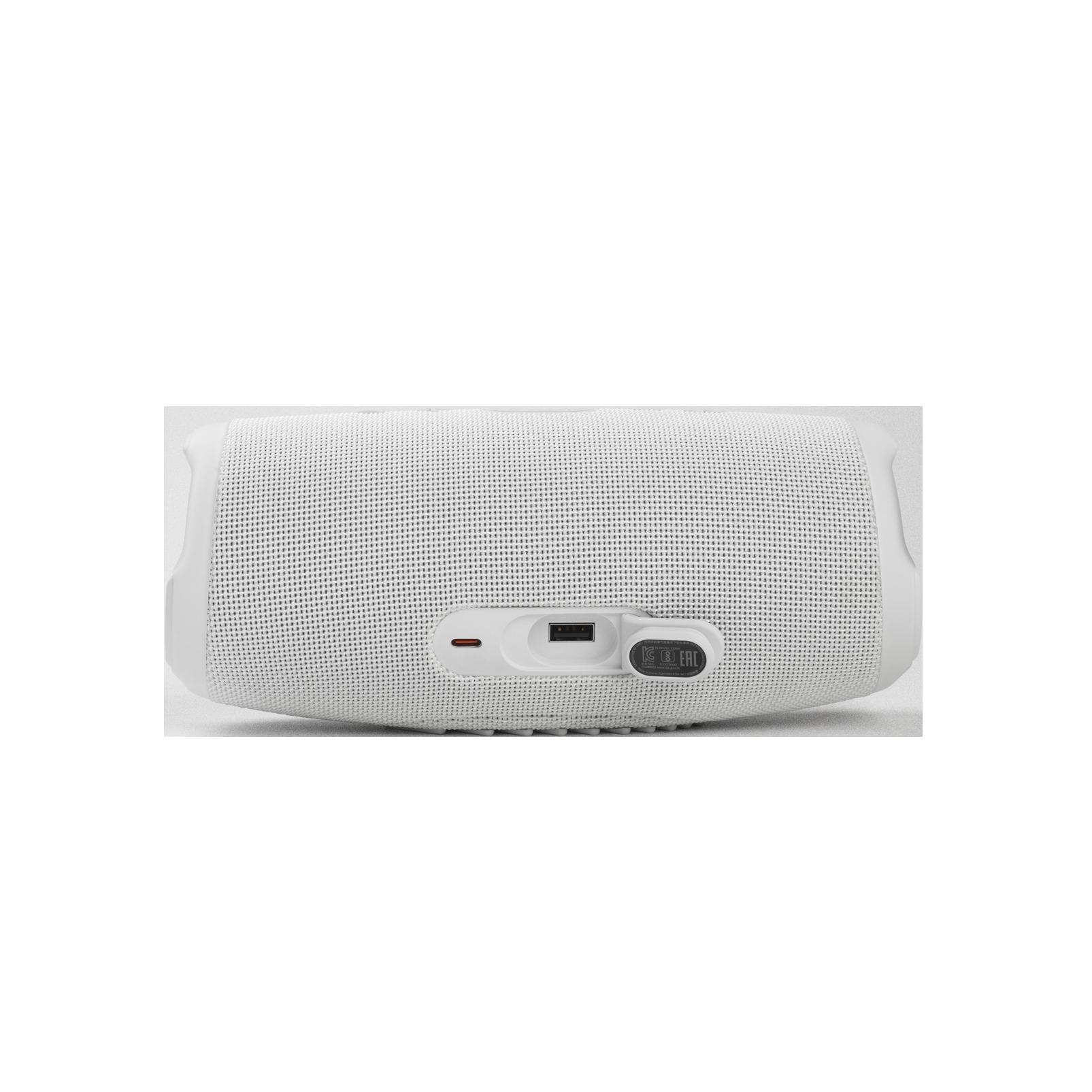 JBL Charge 5 - White - Portable Waterproof Speaker with Powerbank - Detailshot 1