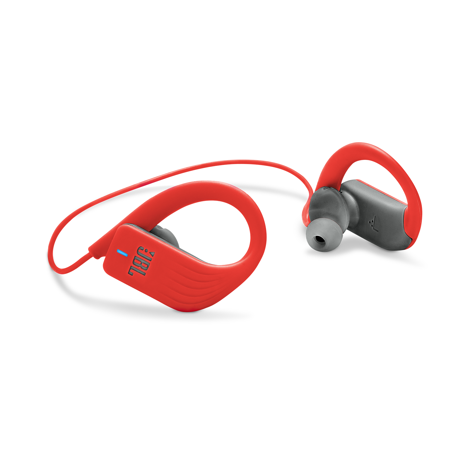 JBL Endurance SPRINT - Red - Waterproof Wireless In-Ear Sport Headphones - Detailshot 1