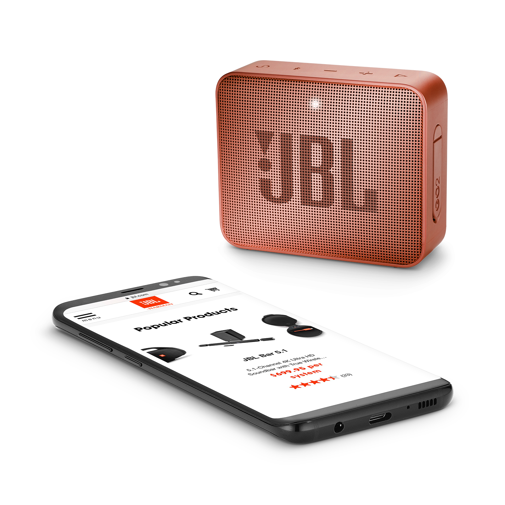 JBL GO 2 - Sunkissed Cinnamon - Portable Bluetooth speaker - Detailshot 3
