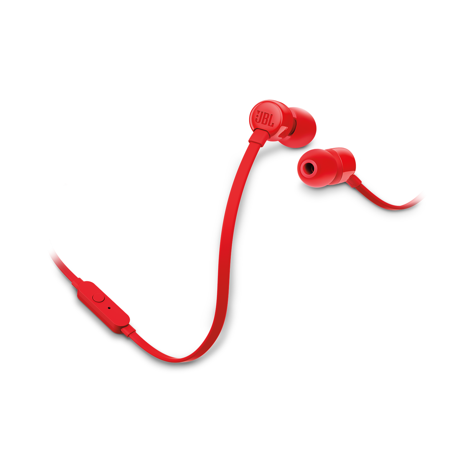 JBL TUNE 160 - Red - In-ear headphones - Hero
